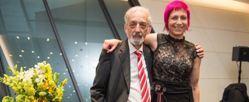 Preisträger Heinz Nussbaumer, Preisträgerin Nina Strasser. Foto: Luiza Puiu.