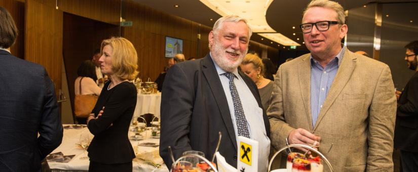 Bildmitte: Franz Fischler, EU-Kommissar a.D., re.: Oliver Lehmann (IST Austria)