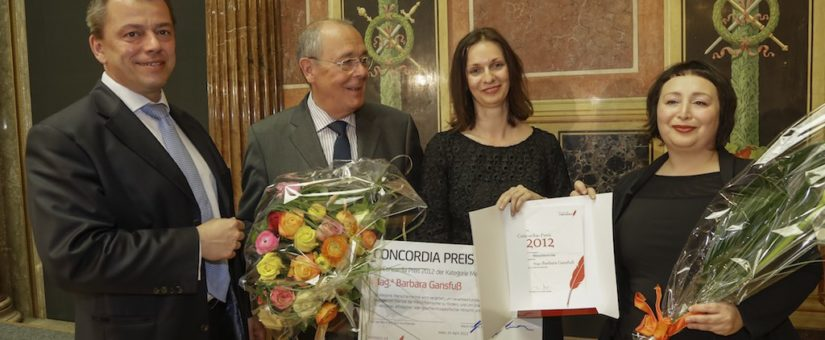 Preisträgerin Barbara Gansfuß (3. von links)