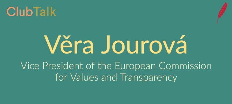 #ClubTalk mit Věra Jourová über den Europäischen Aktionsplan für Demokratie