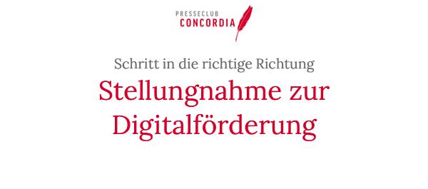 Concordia-Stellungnahme zur Digitalförderung