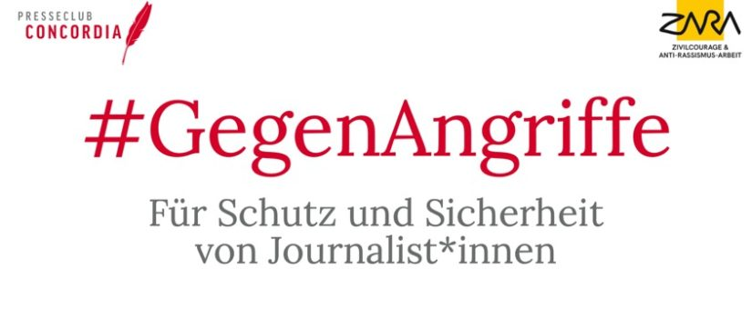 #GegenAngriffe: Concordia und ZARA dokumentieren Angriffe auf Journalist*innen